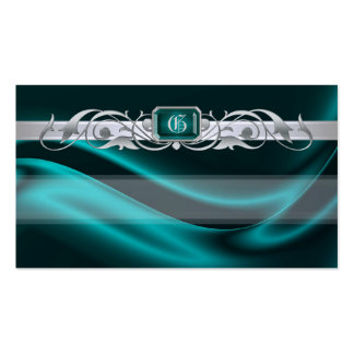 Marquis Teal Jewel Silver Scroll Favor Tags Pack Of Standard Business Cards