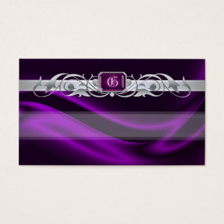 Marquis Violet Jewel Silver Scroll Favor Tags Business Card