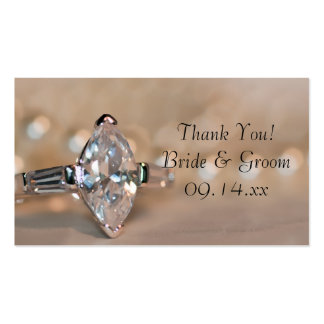 Marquise Diamond Engagement Ring Wedding Favor Tag Pack Of Standard Business Cards