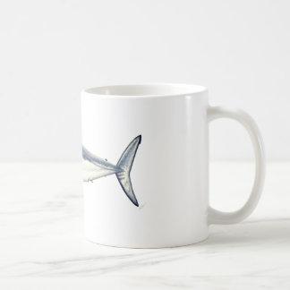 Marrajo - Isurus transparent oxyrinchus-Bottom Coffee Mug