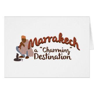 Marrakech Charming Destination Card