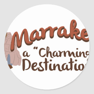 Marrakech Charming Destination Classic Round Sticker