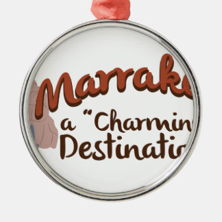 Marrakech Charming Destination Silver-Colored Round Decoration