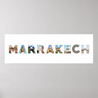 marrakech city morocco symbol text travel landmark poster