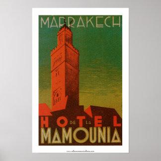 Marrakech Hotel de la Mamounia Poster