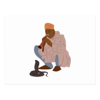 Marrakech Snake Charmer Postcard
