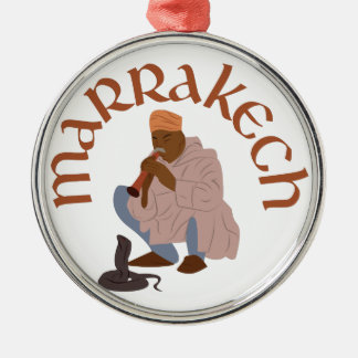 Marrakech Snake Charmer Silver-Colored Round Decoration