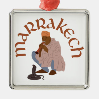 Marrakech Snake Charmer Silver-Colored Square Decoration