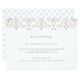 Marrakesh Reception Card | Linen Greige