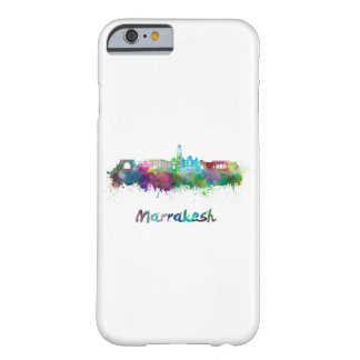 Marrakesh skyline in watercolor barely there iPhone 6 case