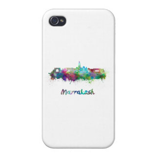 Marrakesh skyline in watercolor iPhone 4/4S covers