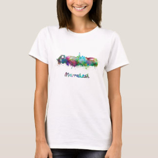 Marrakesh skyline in watercolor T-Shirt