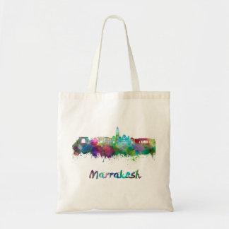 Marrakesh skyline in watercolor tote bag