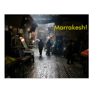 Marrakesh souk in Morocco Postcard