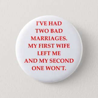 MARRIAGE 6 CM ROUND BADGE