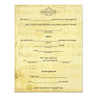 Marriage Advice, Words of Wisdom Sheet Music Card