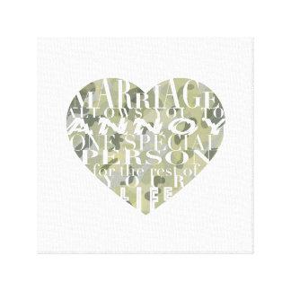 Marriage, allows you to Annoy (camo)-Art Canvas Print