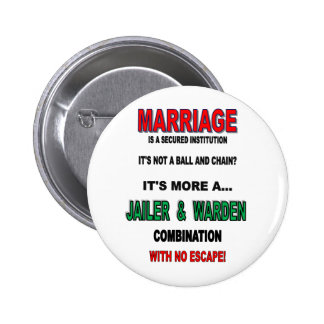 MARRIAGE PINBACK BUTTON