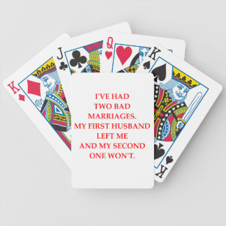 MARRIAGE BICYCLE PLAYING CARDS
