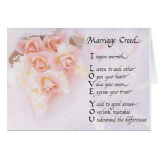 Marriage Creed Greeting Card