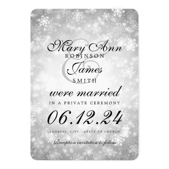 Marriage / Elopement Silver Winter Wonderland Card