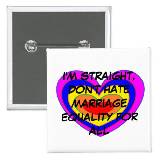 MARRIAGE EQUALITY 15 CM SQUARE BADGE