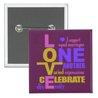 Marriage Equality One Love custom button