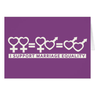 Marriage Equality / One Love custom greeting cards