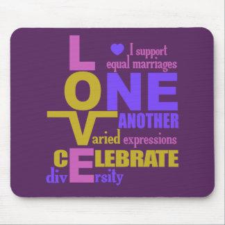 Marriage Equality / One Love custom mousepad