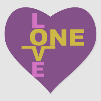 Marriage Equality / One Love custom stickers
