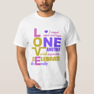 Marriage Equality / One Love shirts – choose style