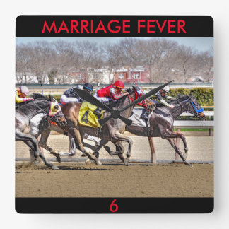 Marriage Fever & Old Upstart Square Wall Clock