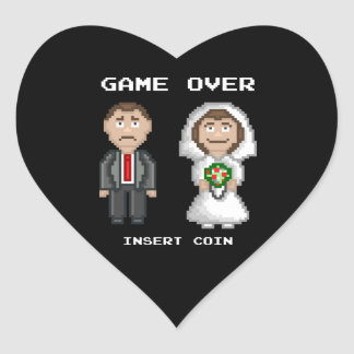 Marriage - Game Over Heart Sticker
