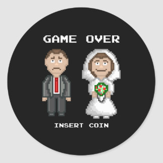 Marriage - Game Over Round Sticker