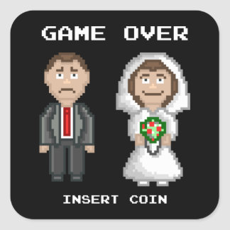 Marriage - Game Over Square Sticker