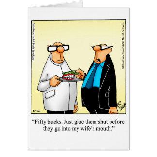 "Marriage Humor ""Glue Them Shut"" Greeting Card"