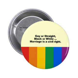Marriage is a civil right 6 cm round badge