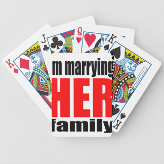 marriage marrying her family joke qoute bridal new bicycle playing cards