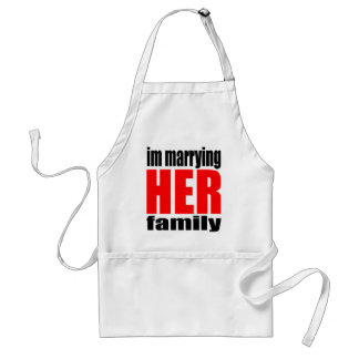 marriage marrying her family joke qoute bridal new standard apron