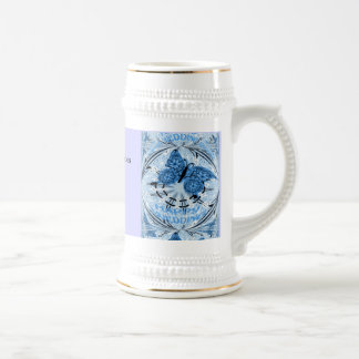 Marriage memories; Butterfly Blue Coffee Mugs