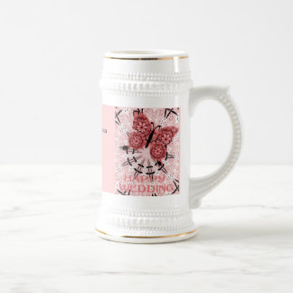 Marriage memories; Butterfly Dudty pink Coffee Mugs