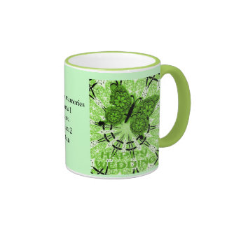 Marriage memories; Butterfly Lime Mugs