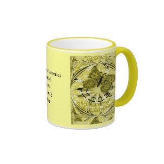 Marriage memories; Butterfly Yellow Coffee Mugs