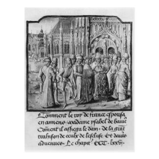 Marriage of Charles VI  King of France Postcard