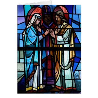 Marriage of Mary and Saint Joseph Stained Glass Card