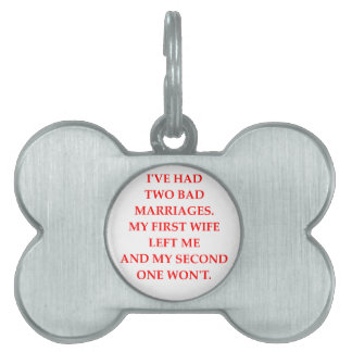 MARRIAGE PET ID TAG