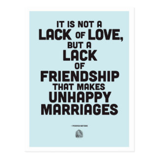 Marriage philosophy quote postcard