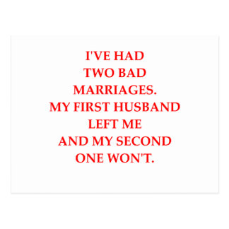 MARRIAGE POSTCARD