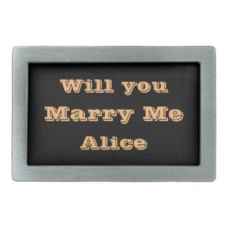 Marriage Proposal Belt Buckle