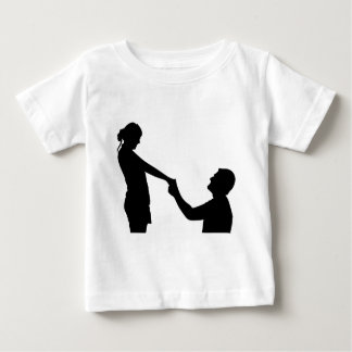 Marriage Proposal Silhouette Baby T-Shirt